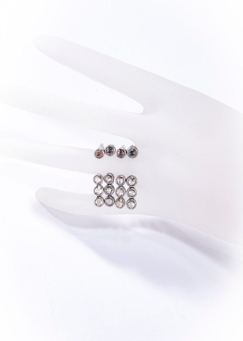 Matte Sterling Silver Ring w/ Champagne Diamond (0.55 C or 0.89 C)-Rings-Gretchen Ventura