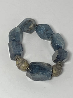 Kynite nuggets with diamond wheels and Afghani sterling 6120-Bracelets-Gretchen Ventura