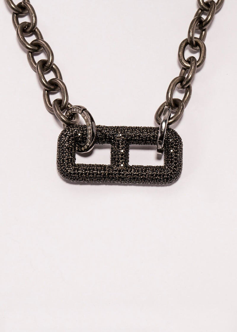 Black Spinel Rockstar Collection 5 #7155-Neck Pendant-Gretchen Ventura