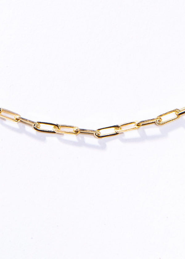 "Gold Vermeil Sterling Small Link Chain 16"" #7624-Chain-Gretchen Ventura"