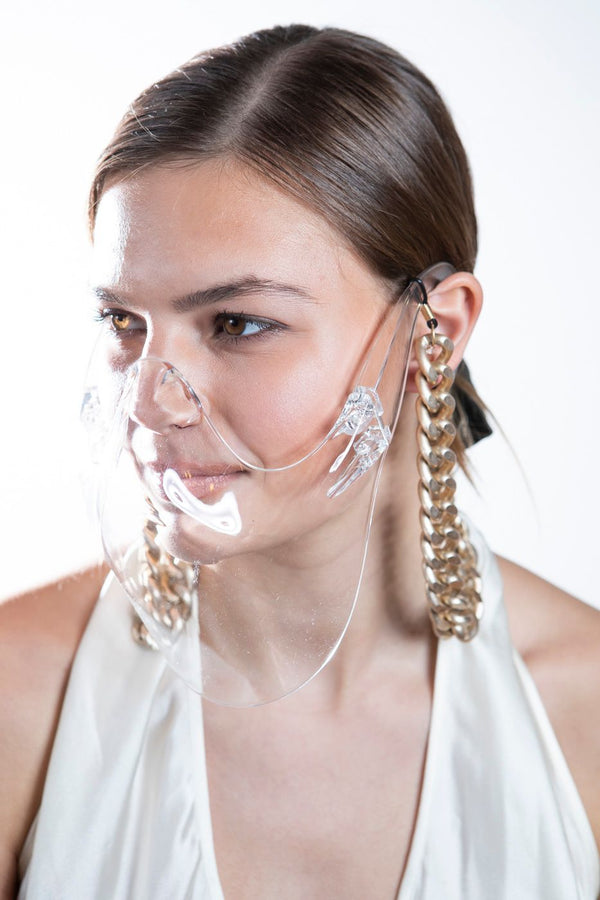 Clear Plastic Mask #7633-Chain-Gretchen Ventura