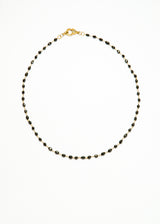 Faceted Black Diamond in 18K Gold Rosary Chain w/ Diamond Lobster Clasp #9312-Chain-Gretchen Ventura