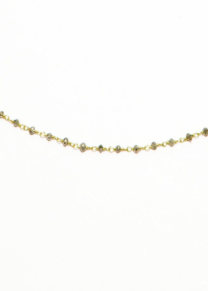 Faceted Gray Diamond Rosary Chain in 18K Gold #9332-Chain-Gretchen Ventura