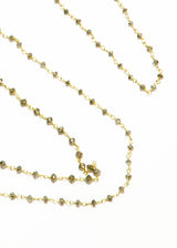 Faceted Gray Diamond Rosary Chain in 18K Gold #9331-Chain-Gretchen Ventura
