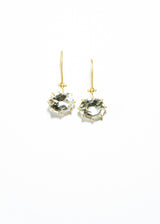 White Topaz Hinge Earrings in 14K Gold #3477-Earrings-Gretchen Ventura