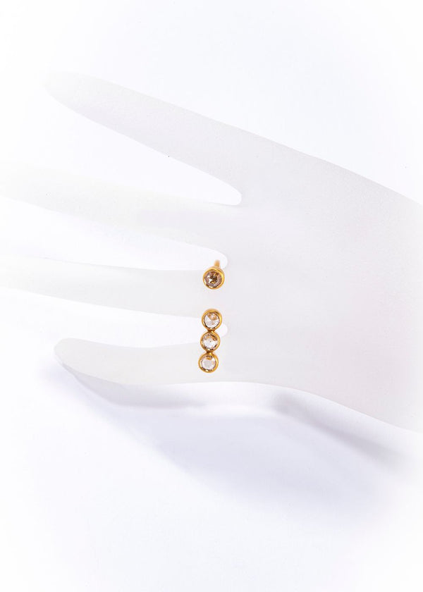 14 K Matte Gold Ring w/Champagne Diamond (0.68 C or 0.98 C)-Rings-Gretchen Ventura
