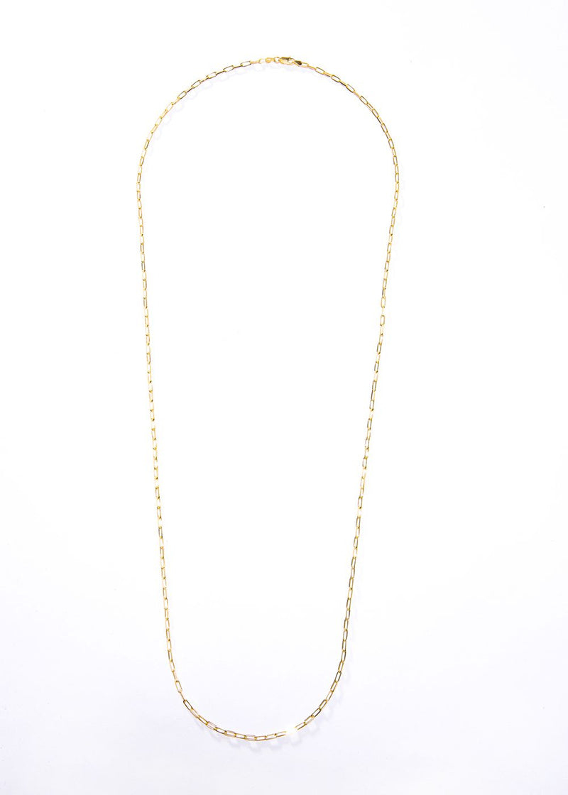 "Gold Vermeil Sterling Small Link Chain 36"" #7626-Chain-Gretchen Ventura"