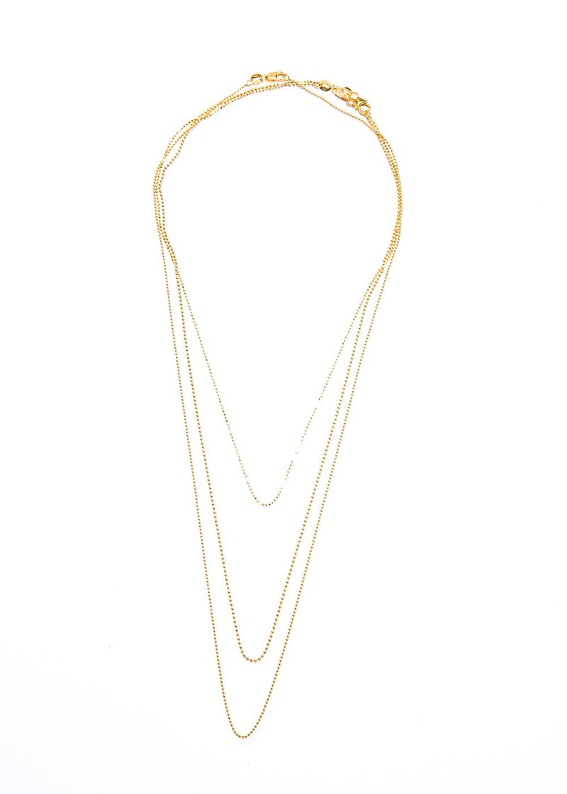 "1mm 14K Gold ball chain 16"" #7620-Chain-Gretchen Ventura"