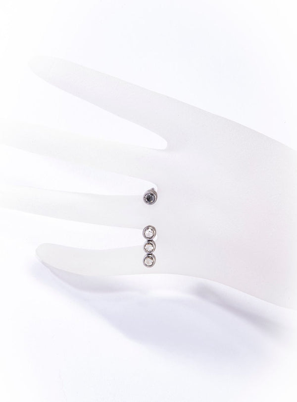 Rhodium Plated Sterling Ring w/ Champagne Diamond (0.55 C or 0.89 C)-Rings-Gretchen Ventura