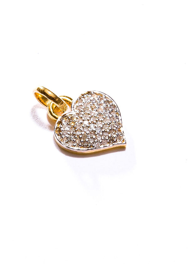 14K Gold & Diamond Heart Pendant #7214-Neck Pendant-Gretchen Ventura