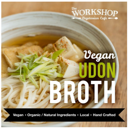 The Workshop Vegetarian Cafe- Vegan Udon Broth
