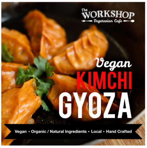 The Work Shop Vegetarian Cafe - Vegan Kimchi Gyoza