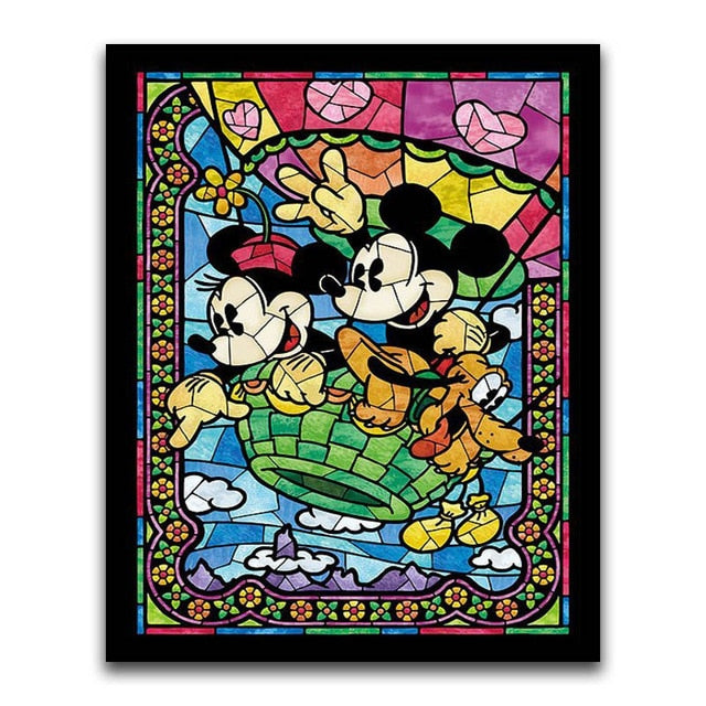 Mickey & Minnie On An Adventure - Square ⬜ - Peaceful Diamond Art