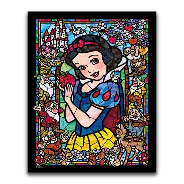 Snow White 2 - Square ⬜ - Peaceful Diamond Art