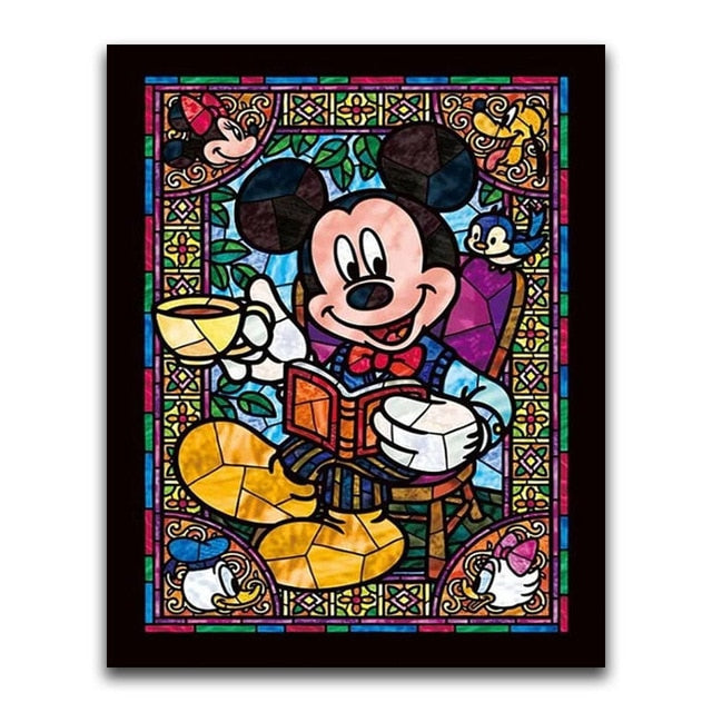 Mickey Mouse 2 - Square ⬜ - Peaceful Diamond Art