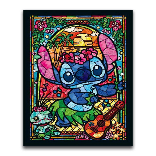 Lilo & Stitch - Square ⬜ - Peaceful Diamond Art