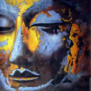 Eyes Closed Buddha - Square ⬜ - Peaceful Diamond Art