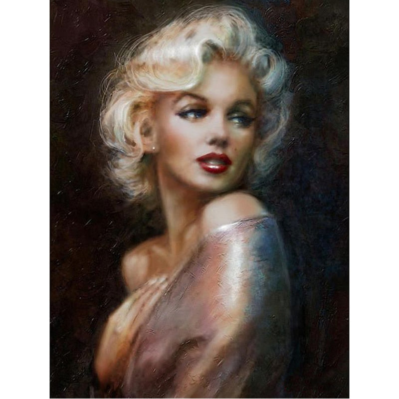 Marilyn Monroe - Square ⬜ - Peaceful Diamond Art
