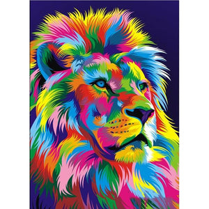 Psychedelic Lion 3 - Square ⬜ - Peaceful Diamond Art