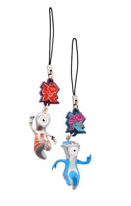 London 2012 Wenlock and Mandeville Charm Accessory Twin Pack