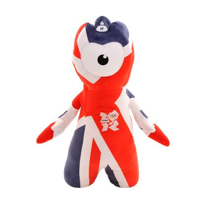 London 2012 80cm Wenlock Union Jack Soft Toy