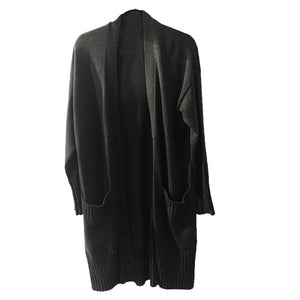 Long black button up cardigan