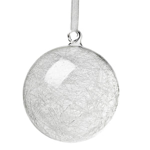 "4"" Icestorm glass ornament"