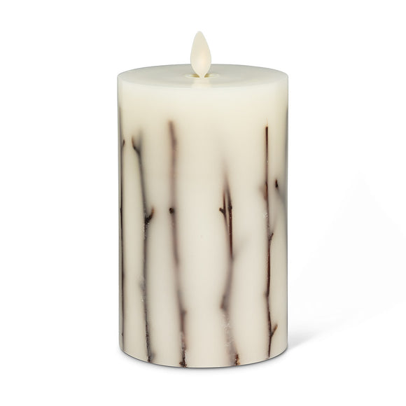 Med twig flameless candle 3.5x6