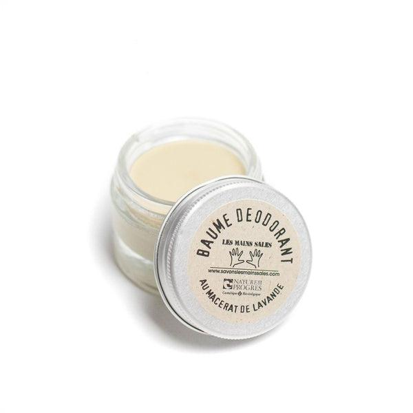 Lavender macerate organic deodorant balm - Les Mains Sales - 30 mL