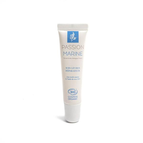 Organic repairing lip care - Coconut oil and Wakame seaweed - Passion Marine - 15 mL