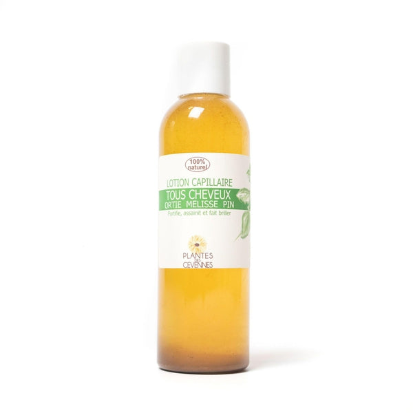 Leave-in shine conditioner Apple cider vinegar, nettle, lemon balm and pine - Plantes des Cévennes - 200 mL