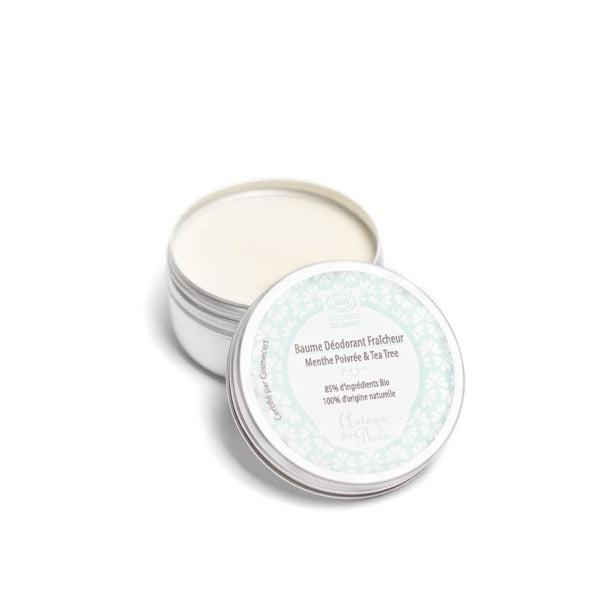 Peppermint & Tea Tree organic fresh deodorant balm - 50 mL - Around the Bath