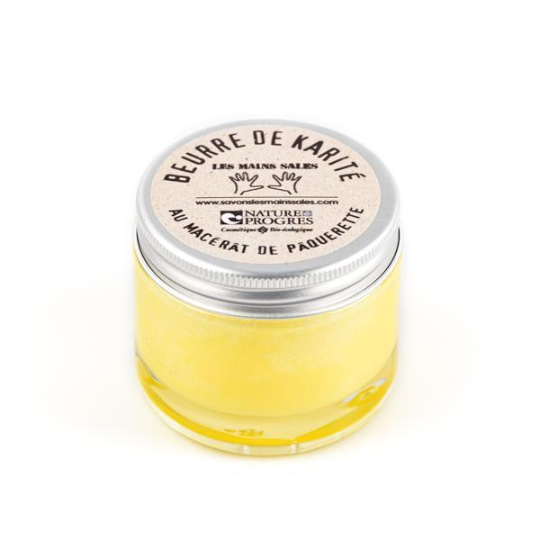 Undeodorized shea butter with daisy macerate - Without essential oils - Les Mains Sales - 60 mL