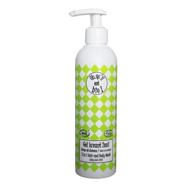 Body & Hair Wash Gel - baby and child - Oh it's organic! - 250 mL