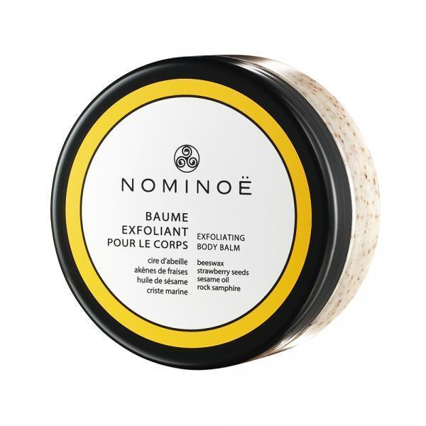 Organic leave-in body scrub with strawberry achenes, sugar, beeswax and sesame - All skin types - Nominoë - 150 mL