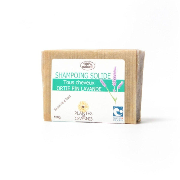Cold saponified organic solid shampoo Nettle, Pine and Lavender - Plantes des Cévennes - 100 gr