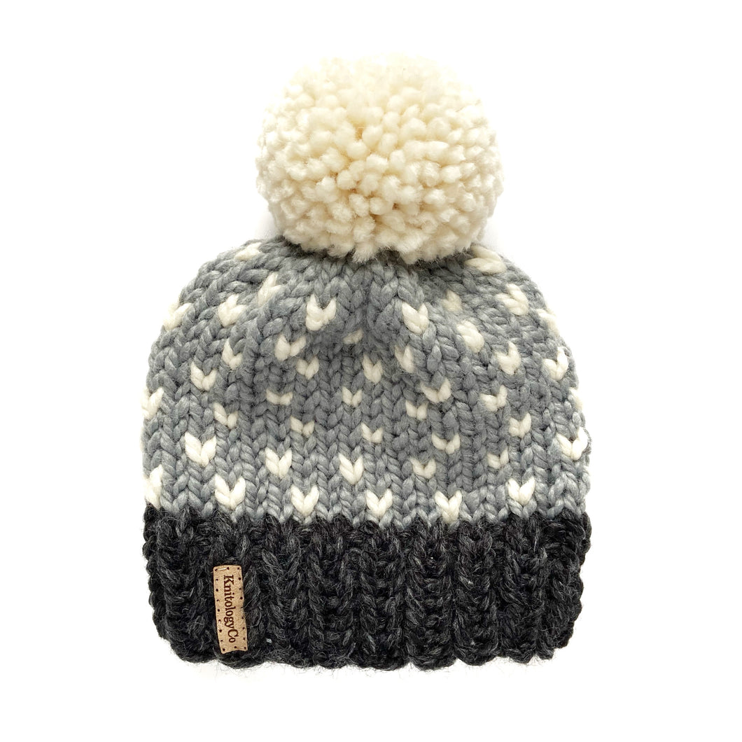 Tiny Dots Hat in When Skies Are Gray 2-4 yrs