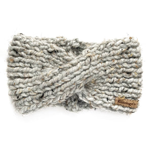 Charlotte Headband in Gray Tweed