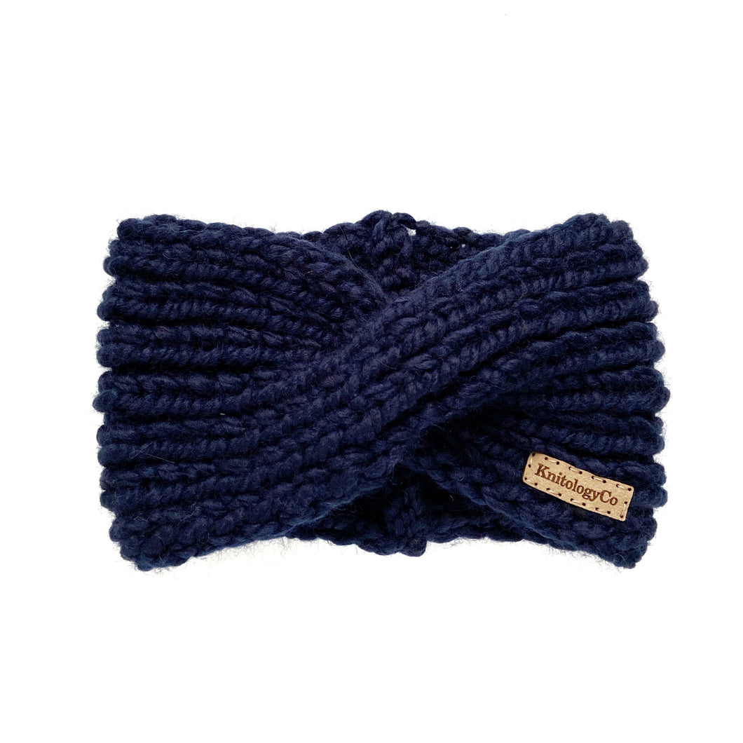 Charlotte Headband in Navy