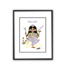 Load image into Gallery viewer, parvati-hindu-goddess-art-print