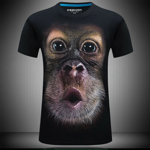 3D Gorilla Men's T-Shirt