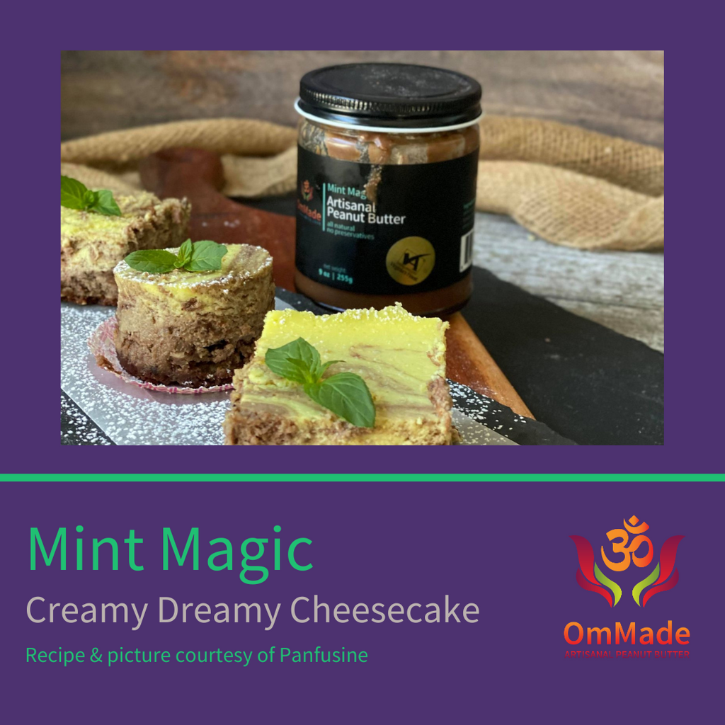Recipe: OmMade Mint Magic Peanut Butter Cheesecake Bars
