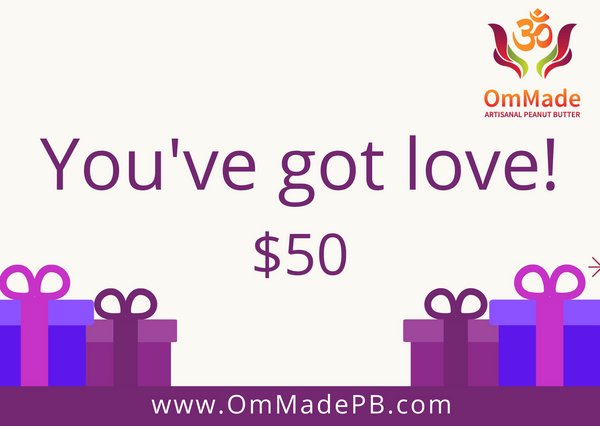 OmMade Peanut Butter Gift Card
