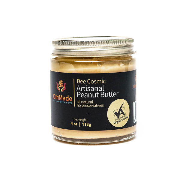 OmMade Bee Cosmic Peanut Butter gluten-free local virginia peanuts