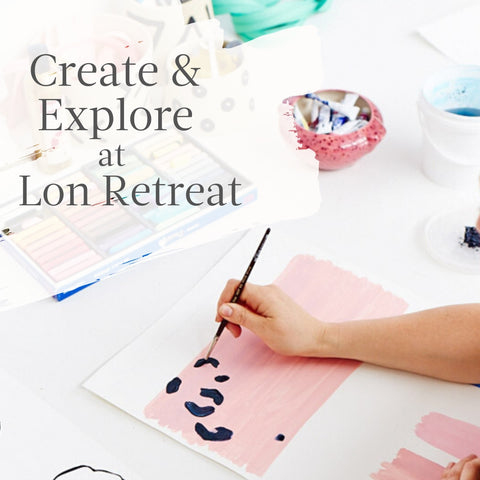 Our Lara is teaching a Drawing and Watercolour workshop at Lon Retreat