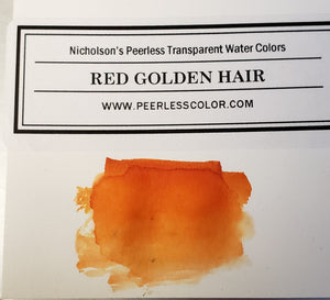 Red Golden Hair - Dry Peerless Water Color - Single Sheet