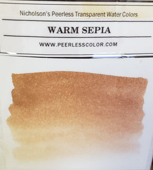 Warm Sepia - Dry Peerless Water Color - Single Sheet