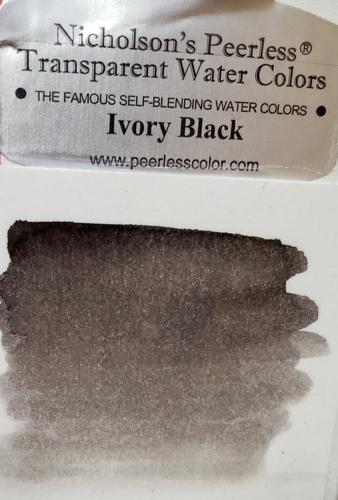 Ivory Black - Dry Peerless Water Color - Single Sheet