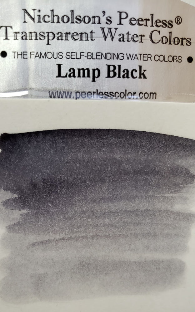 Lamp Black - Dry Peerless Water Color - Single Sheet
