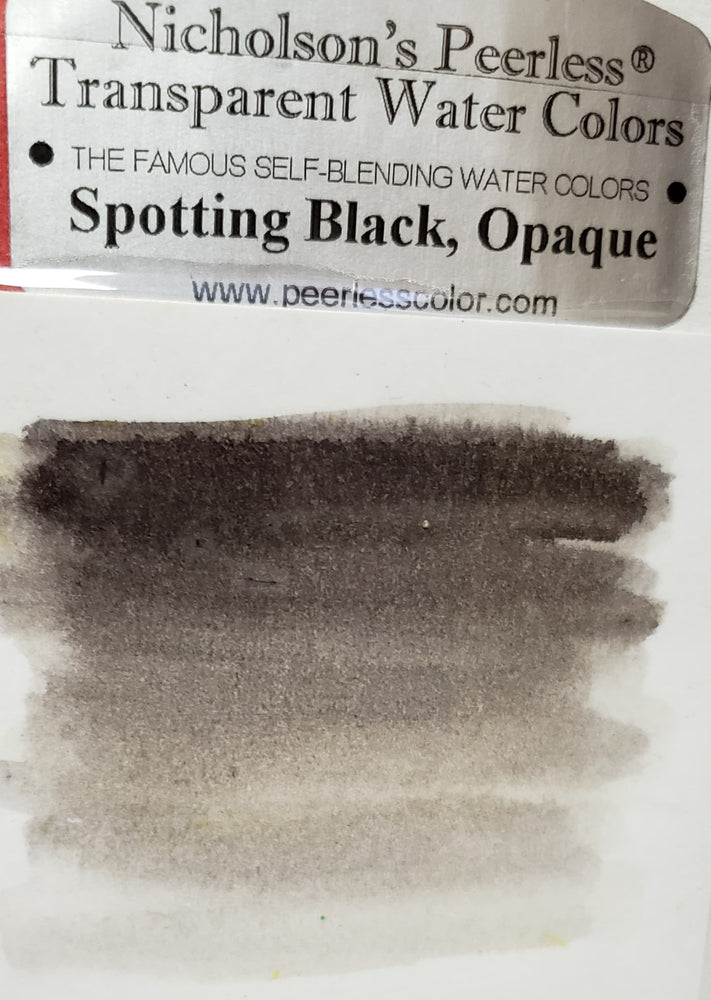 Spotting Black Opaque - Dry Peerless Water Color - Single Sheet